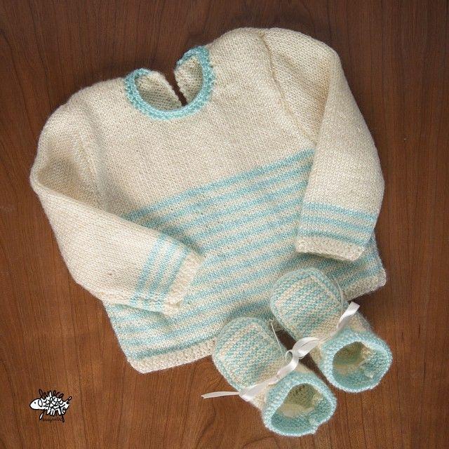 El conjunto para el bebe de una amiga... Si es que no puede ser más dulce! ❤️
