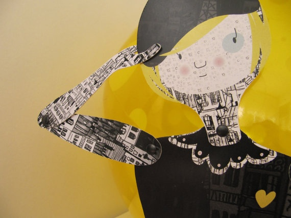 París, articulated paper doll