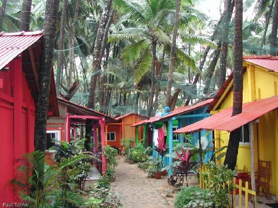 Palolem, India. (I've actually stayed in one of these cabins!)