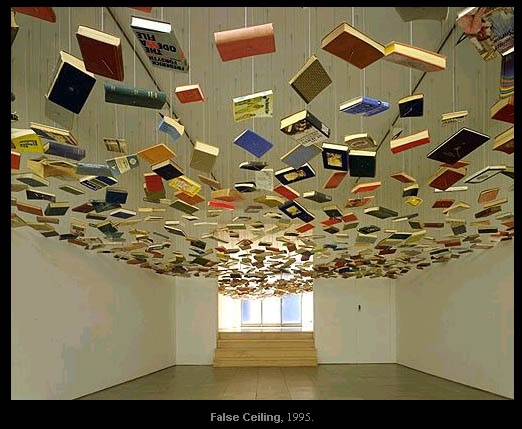 Richard Wentworth's False Ceiling exhibition- Book installation art