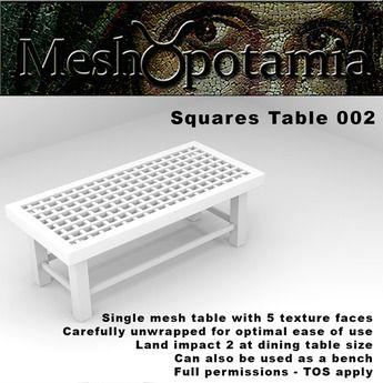 Meshopotamia Squares Table 002 w AO textures