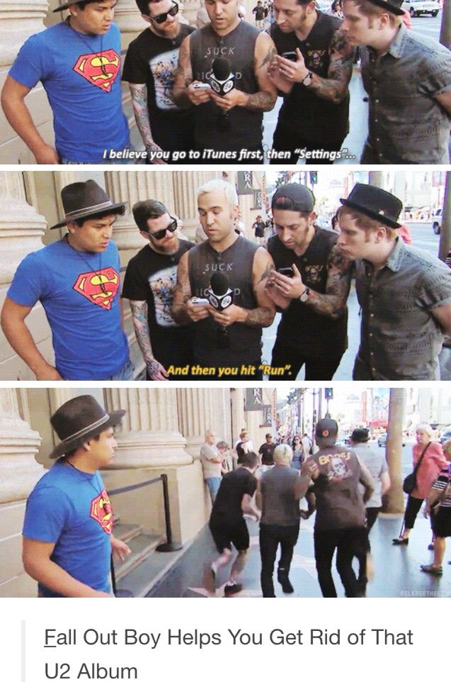 Note to self. Never give my phone to Fall Out Boy. i loved this video!! ^.^