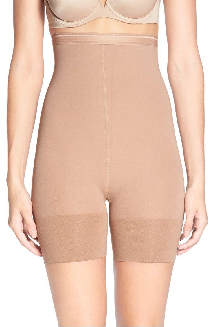 Md womens shapewear high waisted nylon firm tummy control half slip body shaper nudes control slips