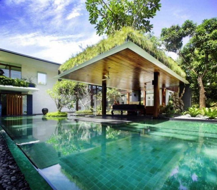 gazbo et abri soleil des ides pour jardin avec piscine - Jardin Avec Piscine Design