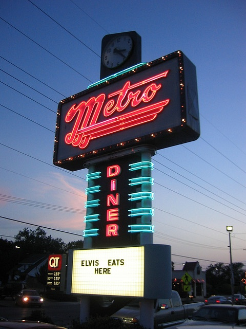 Metro Diner, Lost Tulsa. Great old fashioned 50's style diner / malt shop.