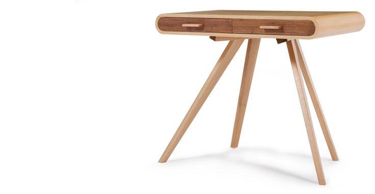 Fonteyn Walnut and Oak Desk   made.com