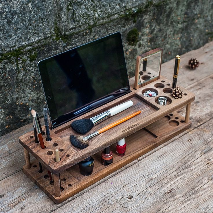 make up pinsel schrank halter lagerung kosmetische station. Black Bedroom Furniture Sets. Home Design Ideas