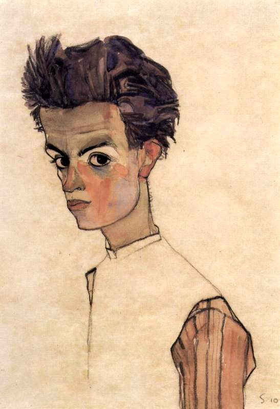 SCHIELE Egon - Austrian (Tulln 1890 - 1918 Vienna) ~ self portrait 1910