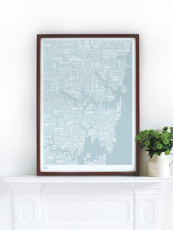 Sydney Type Map | Hello Polly