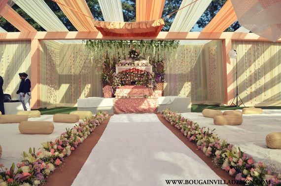 Decor for Anand Karaj Ceremony; Bougainvilla Designs