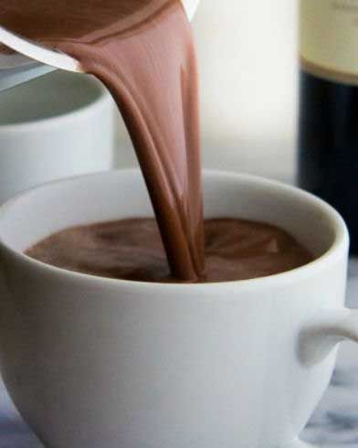 Just in time for cooler weather: Red Wine Hot Chocolate