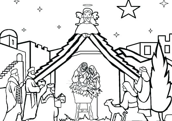 Fresh Coloring Pages Nativity Scene Download In 2020 Free