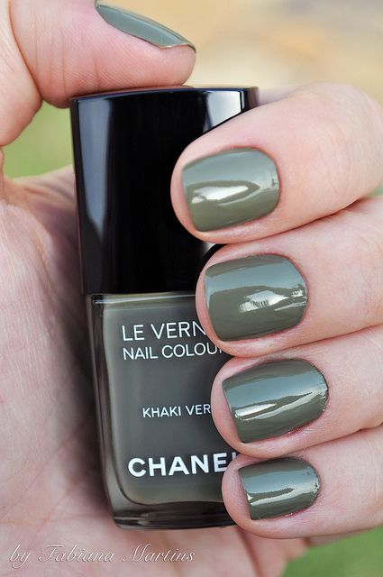 WHAT: Khaki Nail Polish WHERE: Chanel WHY: Khaki is definitely in right now. It goes with almost everything and isn't super flashy yet not so plain and boring.