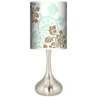 Classic Mist & Taupe Giclee Kiss Table Lamp - Amazon.com
