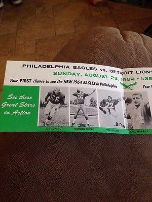Philadelphia Eagles Vs. Detroit Lions John F. Kennedy Memorial Fund August 1964