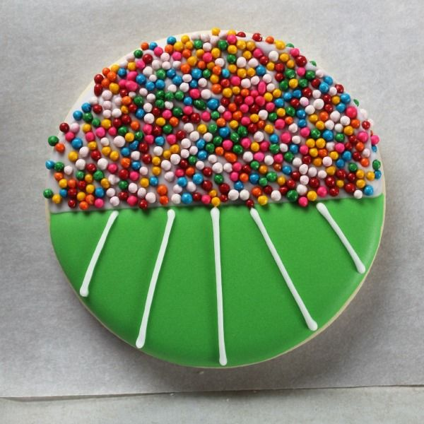 Stadium Cookie With Sprinkles | The Sweet Adventures of Sugarbelle - For all your cake decorating supplies, please visit craftcompany.co.uk