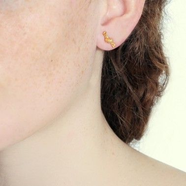 Tiny little knot earrings. These solid silver earrings come in various finishes. KNOTTED STUDS - from £35.