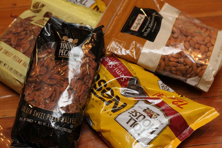 Using your foodsaver to store chocolate and nuts
