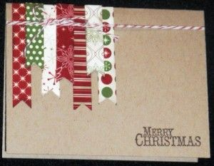 Simple handmade Christmas card using Chock-Full of Cheer stamp set from Stampin' Up!