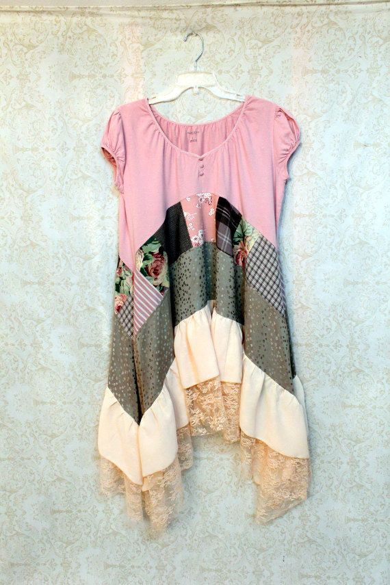 REVIVAL Women's Upcycled Boho Shirt Bohemian Hippie by REVIVAL