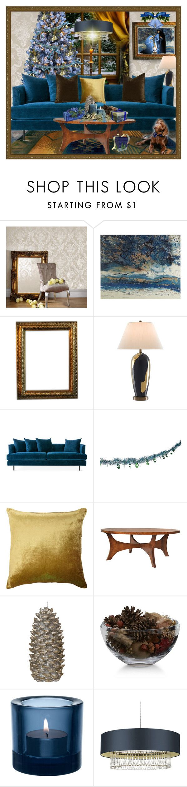 """""""Untitled #5427"""" by julissag ❤ liked on Polyvore featuring interior, interiors, interior design, home, home decor, interior decorating, Graham & Brown, Ralph Lauren Home, Pier 1 Imports and Currey & Company"""