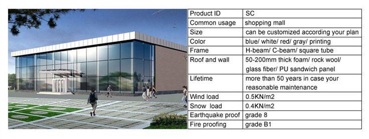 steel structure supermarket