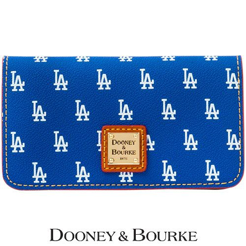 Los Angeles Dodgers MLB Signature Large Slim Phone Wallet by Dooney & Bourke - MLB.com Shop