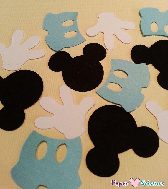 """1"""" bebé Mickey bebé ducha de confeti / confeti del cumpleaños Mickey primero"""