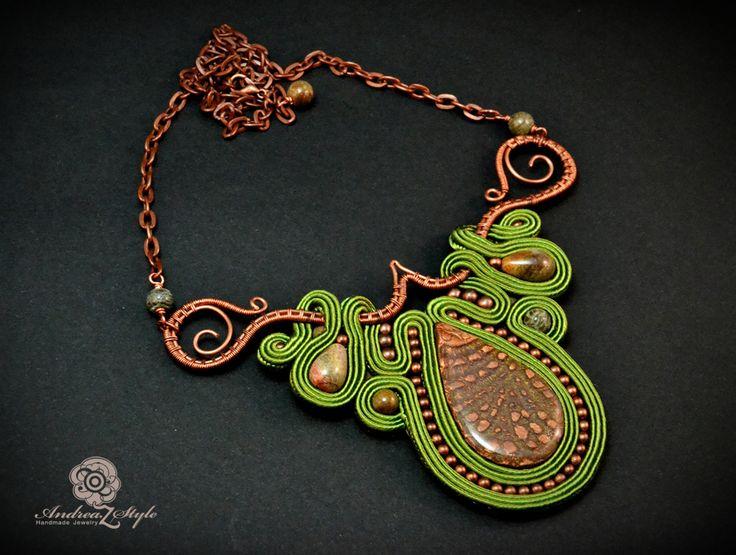 Soutache necklace - Andrea Zelenak S0206