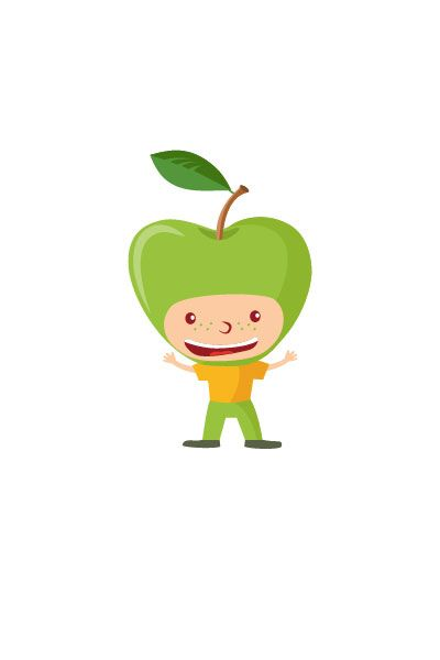 Apple Kid Vector #apple #vector #fruits #handdrawvector http://www.vectorvice.com/fruit-kids-vector-pack