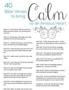 40 Bible Verses to Calm an Anxious Heart Download