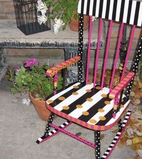 painted chairs on Pinterest  Childs rocking chair, Painted chairs ...