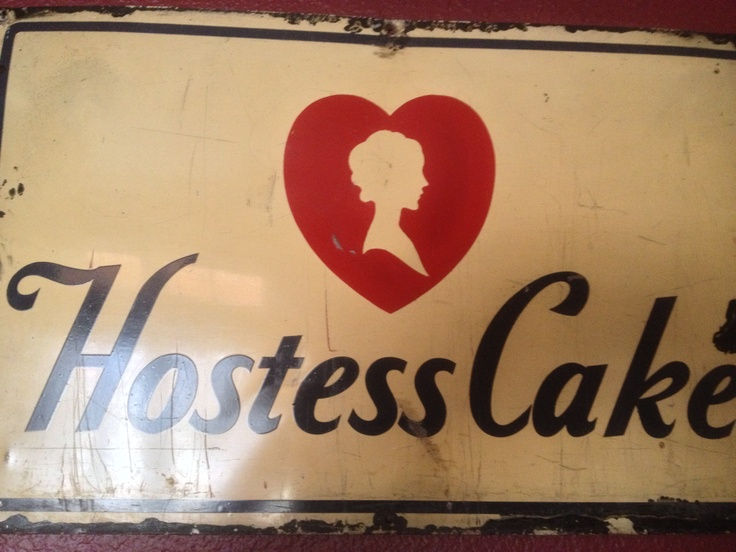 Vintage Hostess Cake Sign Remember Twinkies Old