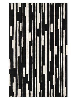 Surya Candice Olson Modern Classics Rug, Jet Black/Winter White, 5' x 8'