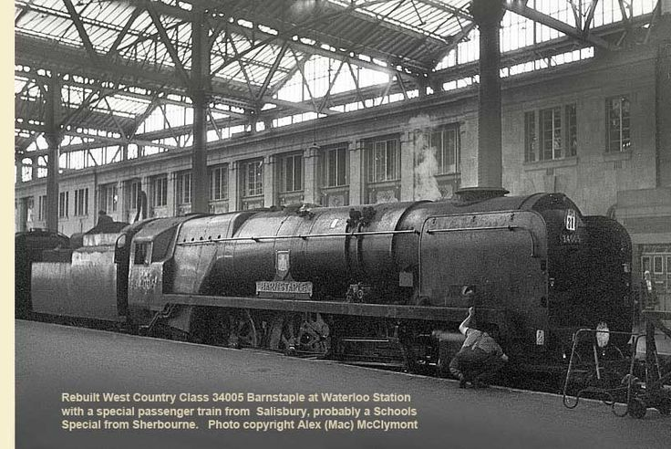 waterloo station steam trains photos - Google Search