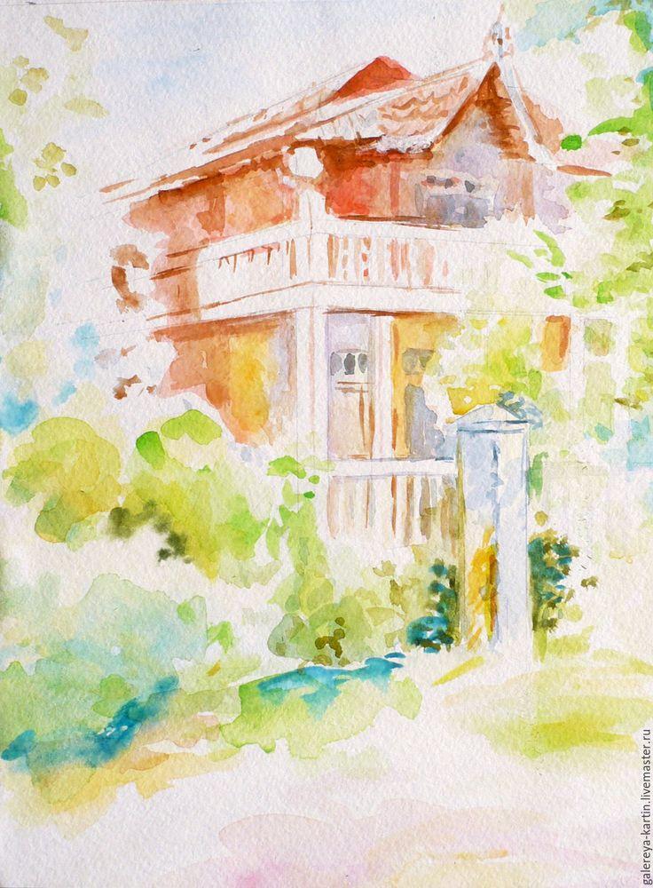 """Купить Акварель """"Дом мечты. Сказка"""" - дом мечты, акварель, акварельная картина, карта желаний"""