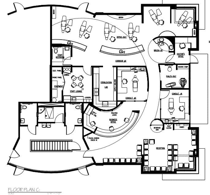 Ortho pedo 2 525 floor plans pinterest for Orthodontic office design floor plan