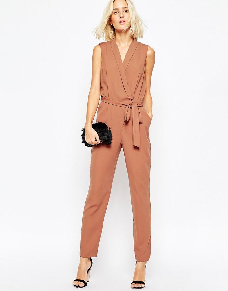 ASOS Wrap Jumpsuit with Collar Detail