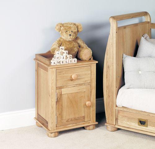 Amelie Oak Bedside Cabinet one door one drawer #home #house #decor #interior #furniture #oak #wood #storage #bedroom #cabinet