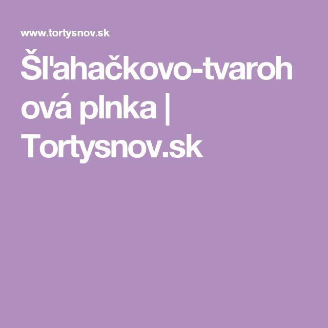 Šľahačkovo-tvarohová plnka | Tortysnov.sk