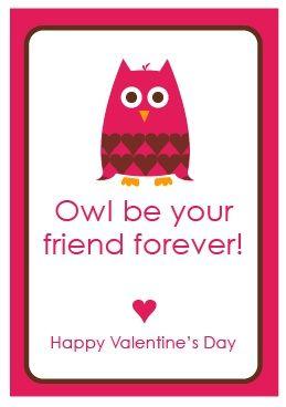 ini Valentine's Day CardValentine'S Day, Owls Valentine, Printable Valentine, Valentine Day Cards, Valentine Cards, Valentine Parties, Printables Valentine, Free Printables, Crafts