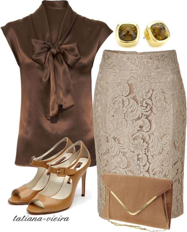 """086"" by tatiana-vieira ❤ liked on Polyvore  i've been searching for a lace skirt like that!"
