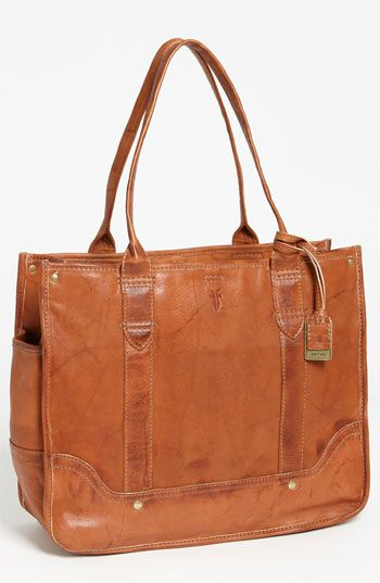 Frye 'Campus' Shopper - Got this at a 25% off sale after the holidays - best bag I've ever had - lightweight, roomy enough for a laptop &/or file folders, side pockets for water bottle, reading glasses, interior phone pocket - it's perfect. Like a briefcase but lighter and more attractive. Straps long enough to carry it on my shoulder over bulky winter coats.