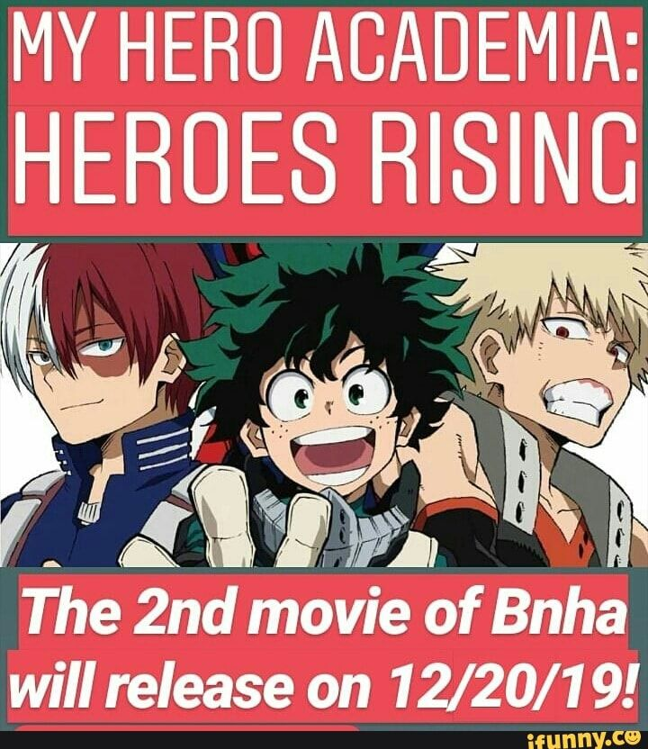 My Hero Academia Heroes Rising The 2nd Movie Of Bnha Will Release