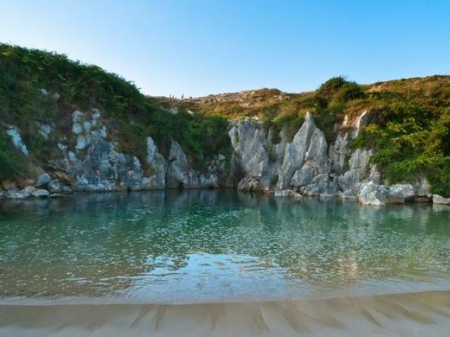 Playa de gulpiyuri beach, Spain