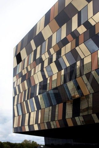 British architect David Adjaye - Moscow School of Management - The exterior of the building is inspired by Malevich's Cubist paintings that are reminiscences of African motifs.