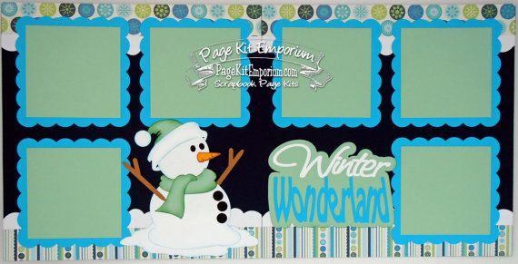 Scrapbook Page Kit Winter Wonderland 2 page by PageKitEmporium