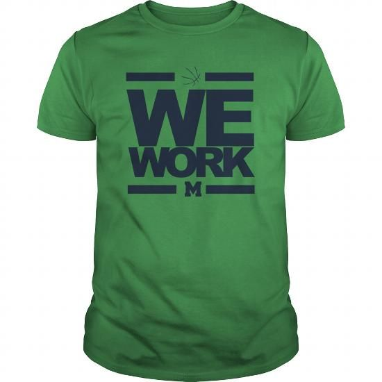 We Work Blue Michigan Wolverines Basketball