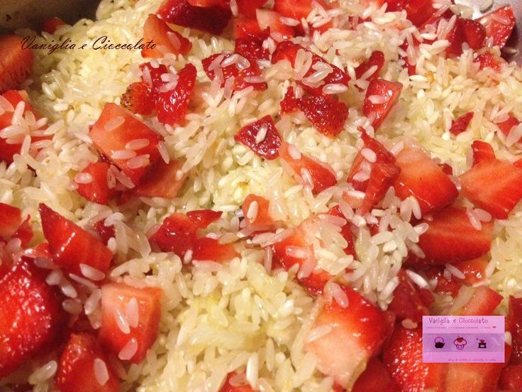 Risotto alle fragole - tostatura