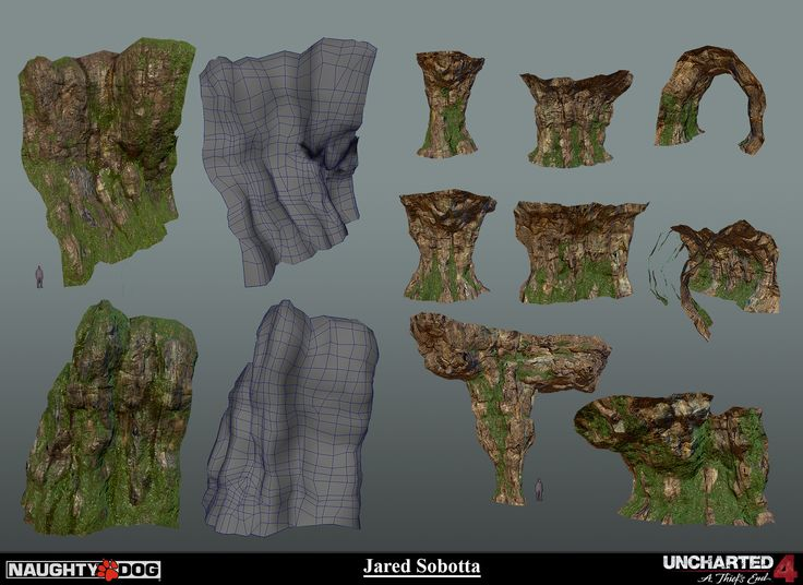 The following is a collection of images of my work from Uncharted 4: A Thiefs End. I was the texture artist for this section in the ending Cave . The work I did consisted of Texturing (Re-textures, and some creation), creating shaders, all blend work and application of the shaders, uv'ing, minor modeling tweaks/set dressing. We took this level from early blackout stage all the way to completion. I joined in fairly late towards the end of this project so most of the textures are pulled from…